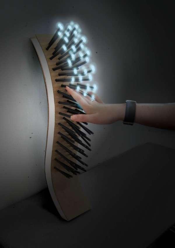 Porcupine Lamps Touch Light Concept