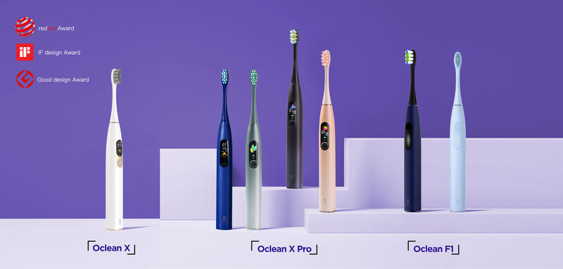 LCD Touchscreen Toothbrushes