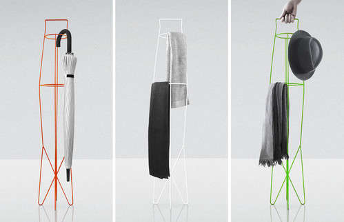 Flexible Wireframe Coatracks