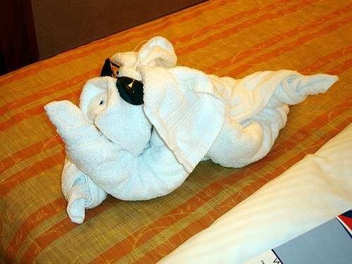Towel Origami Twisted Terrycloth Art And Sculptures For Guest
