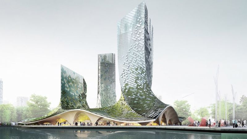 Algae-Covered Glass Tower Concepts