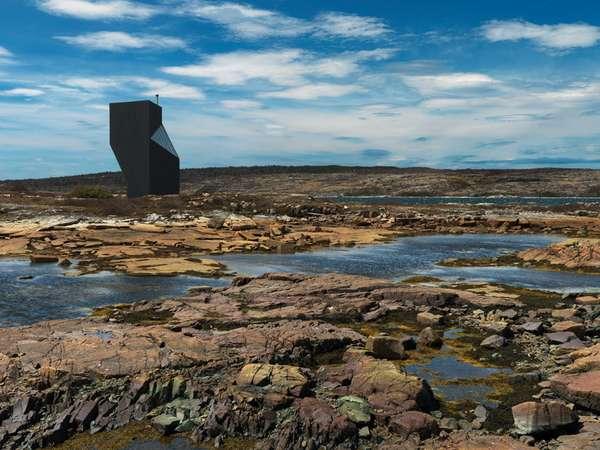Twisted Angular Rock Homes