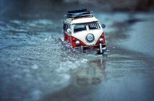 Miniature Car Captures Toy Cars