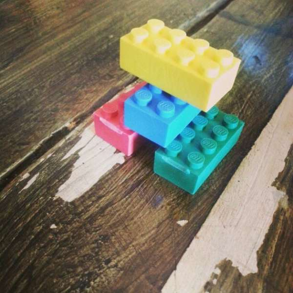 Colorful Blocked Erasers