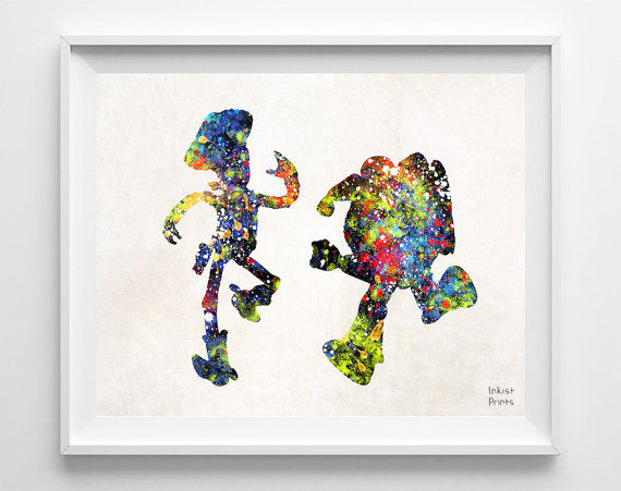 Watercolor Pixar Paintings