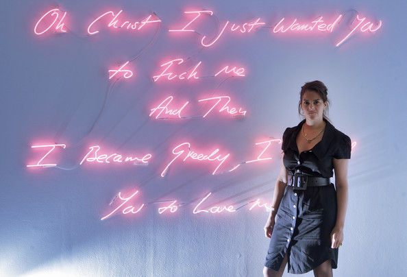 Neon Word Installation Art