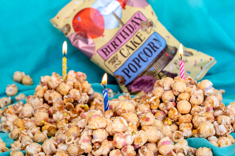 Cake-Flavored Popcorn Snacks