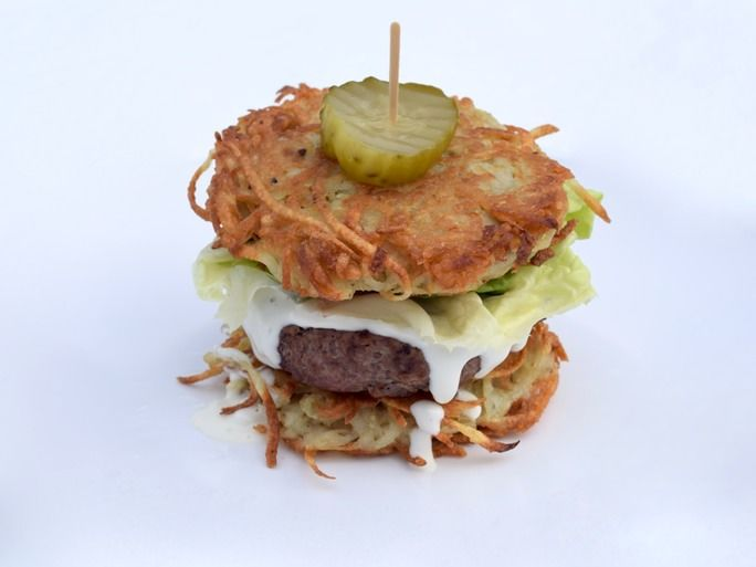 Latke-Inspired Burger Buns