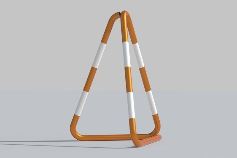 Redesigned Metallic Traffic Cones