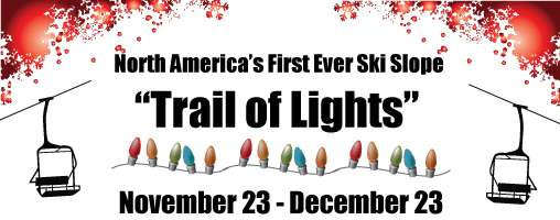 Trail of Lights on the Slopes
