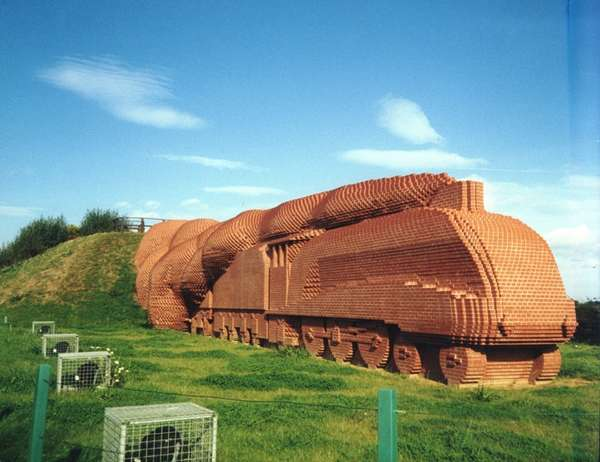 Brick Locomotive Sculptures