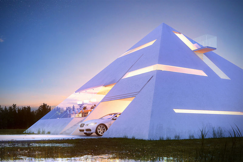 Triangular Transparent Abodes