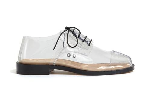 Transparent Luxe Laced Footwear