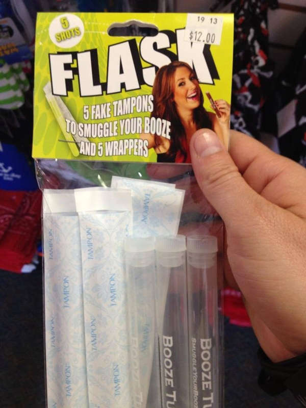 Fake Feminine Hygiene Flasks