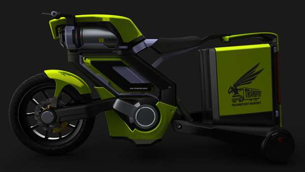 Air-Powered Delivery Trikes