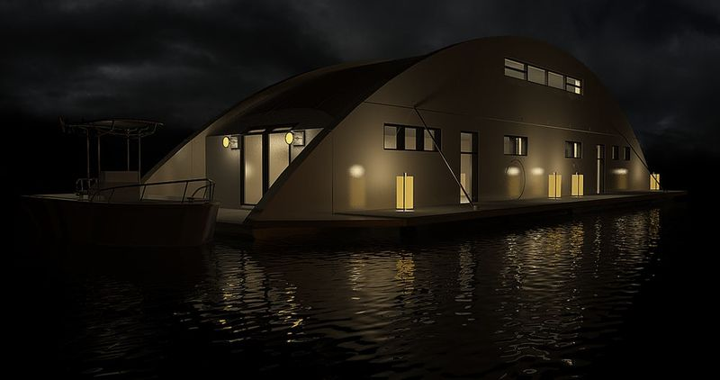 Transportable Houseboat Designs