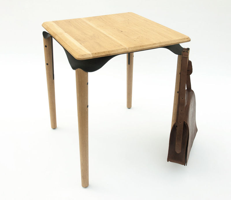 Bag-Holding Bistro Tables