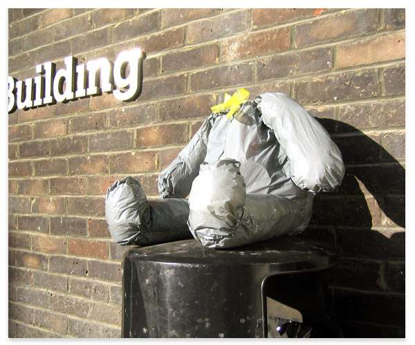 Head-Scratching Garbage Bags