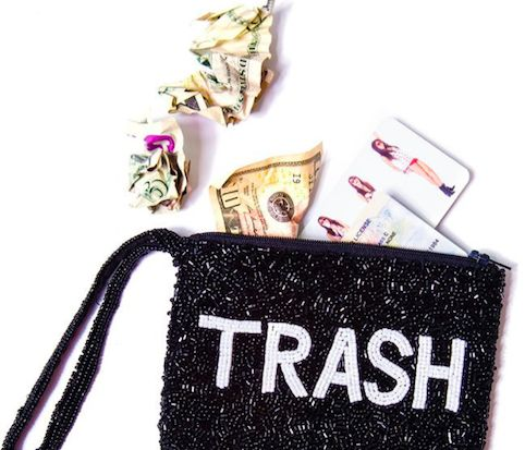 Glittery Garbage Clutches