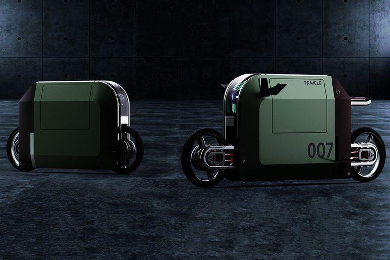 Conceptual Cuboidal Motorbikes