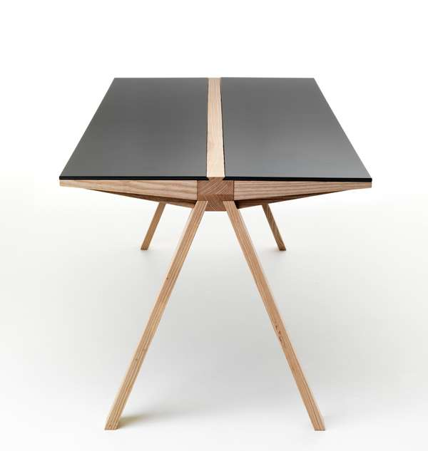 Road-Like Tabletops- The Traverso Table is Sturdy, Balanced and Robust