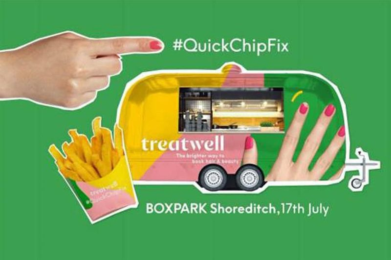 Snack-Sharing Beauty Pop-Ups - Treatwell and Poptata's Pop-Up Pairs Street Food & Manicures (TrendHunter.com)
