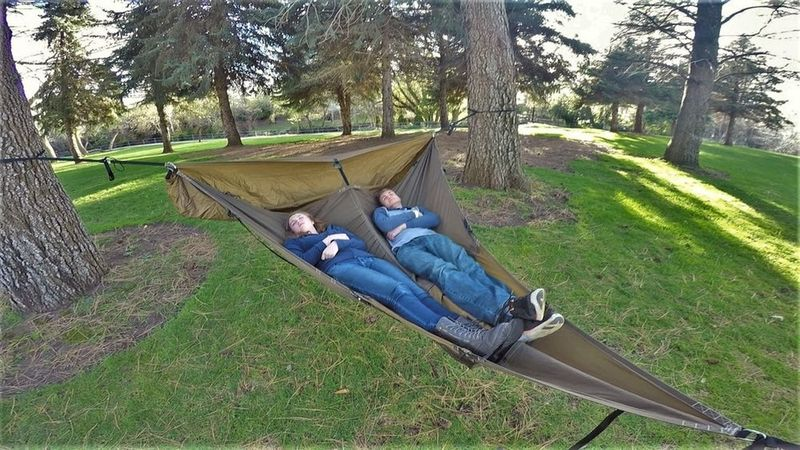 Medium image of clamshell tent hammocks