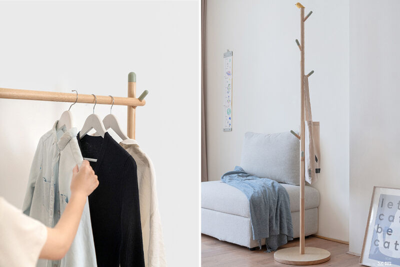 Playful Interchangeable Clothing Racks