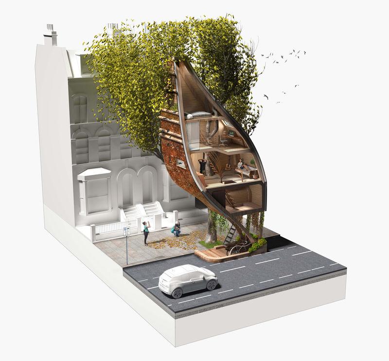 Sustainable Urban Tree Pods