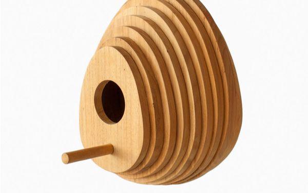 Egg-Shaped Timber Aviaries