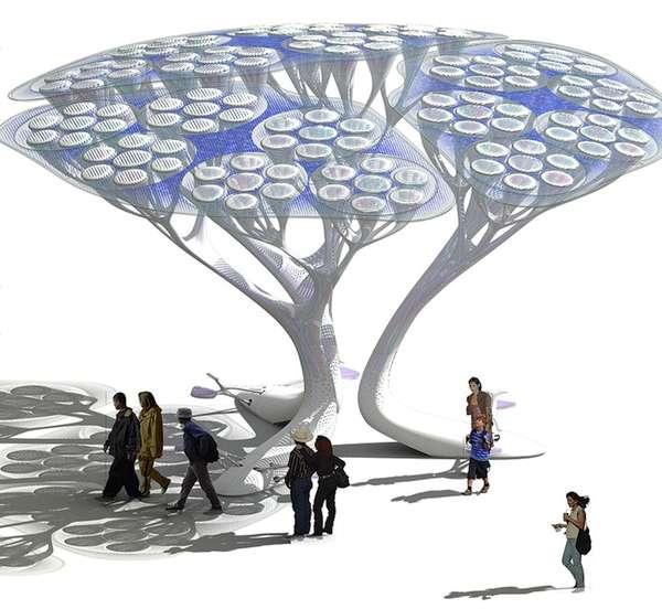 Synthetic Eco Trees : Treepods SHIFTboston