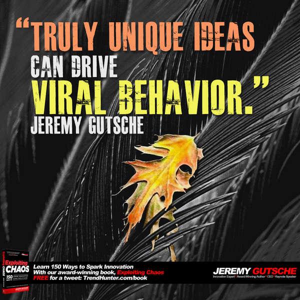Truly Unique Ideas Drive Viral Behavior