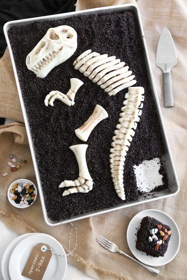 Diy Dinosaur Dig Cakes T Rex Dig Cake