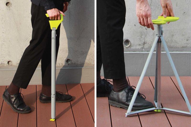 Tripod Stool Walking Sticks