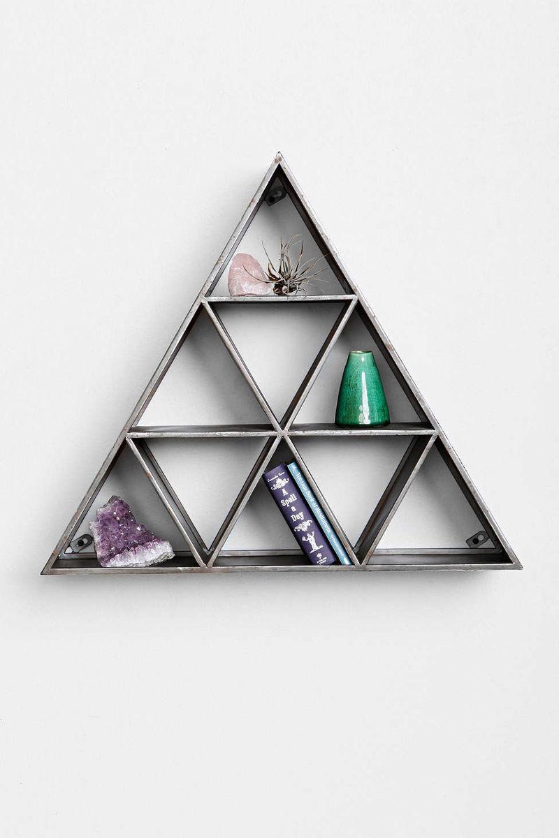 Stacked Pyramid Storage Triangle Shelf
