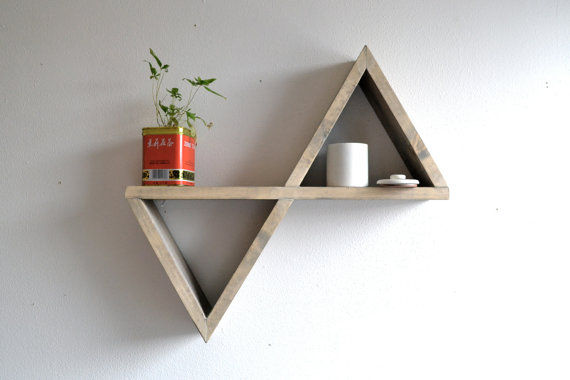 Reflective Triangle Shelving