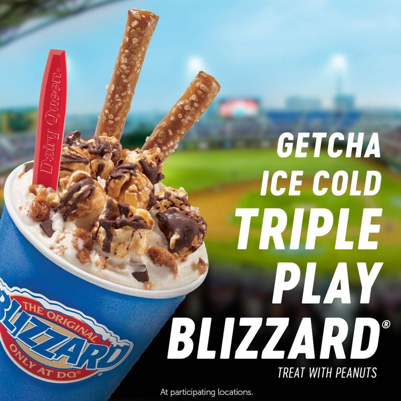 Baseball-Themed Frozen Treats