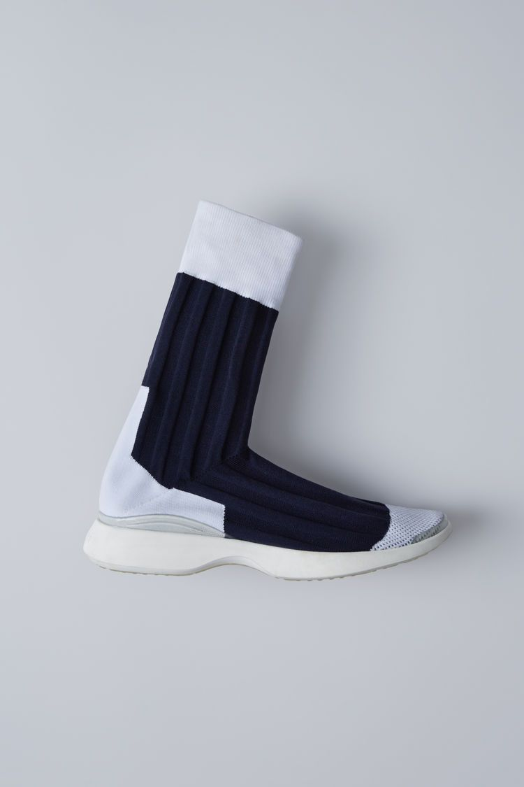 Textured Sock-Like Sneakers