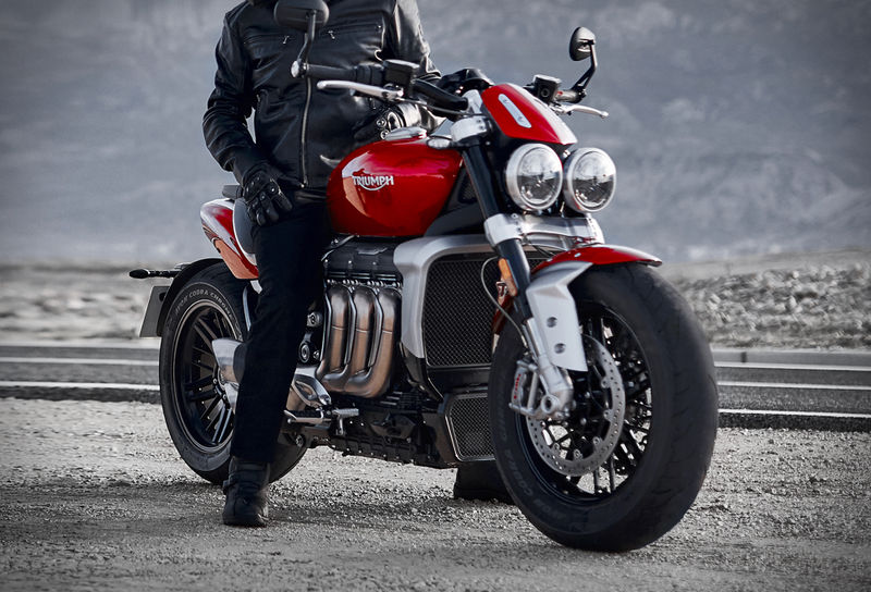 Aggressive Triple-Engine Motorcycles