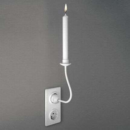 Plug In Candles The Plug Shaped Trompe L Oeil Candle Holders