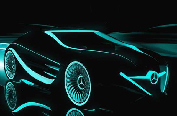 Sci Fi Inspired Cars Tron Legacy Mercedes Blackbird
