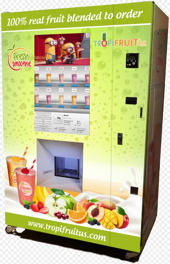 Smoothie-Making Vending Machines