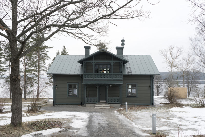 Black Tudor-Style Cottages