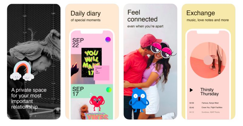 Scrapbook-Style Couples Apps