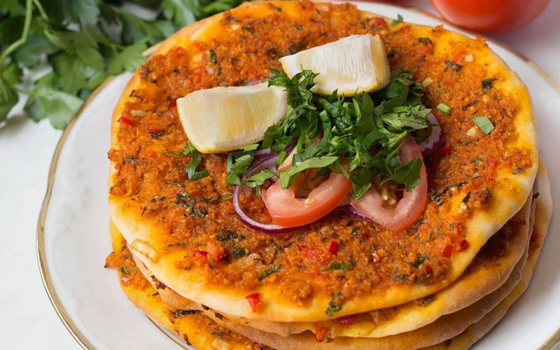 Meat-Free Turkish Pizzas