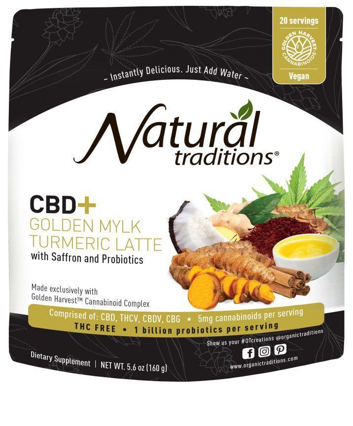 CBD-Infused Turmeric Latte Mixes