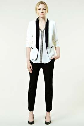 Female Tuxedo Jackets: The Tux Contrast Blazer is Bold and Dapper