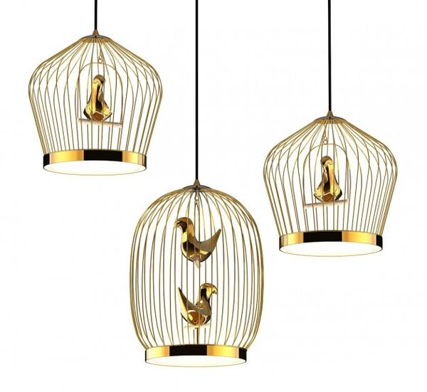 Bird Cage-Inspired Lighting