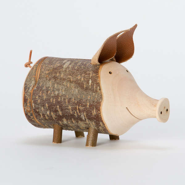 Porky Wooden Penny Savers