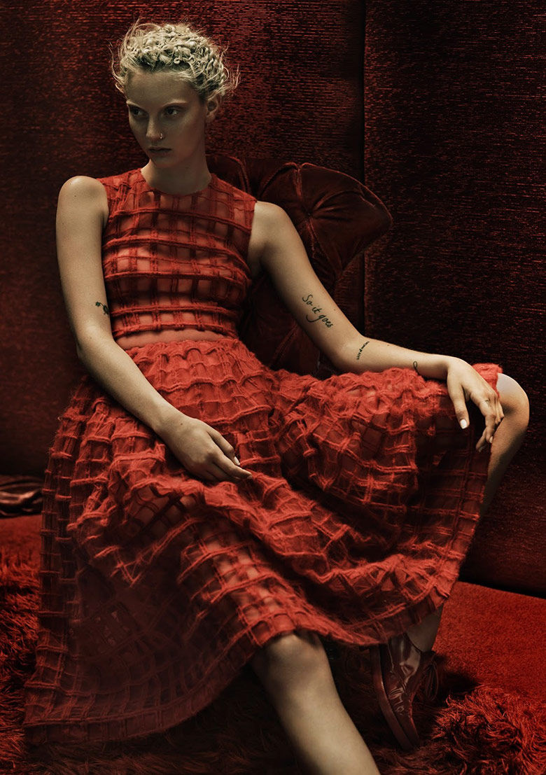 Couture Crimson Editorials